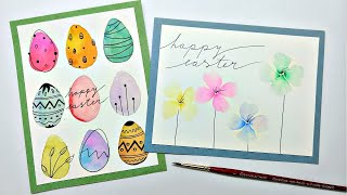2 Watercolor Easter Cards Tutorial Part 2 | Easy Watercolor Painting For Spring For Beginners