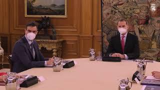 S.M. el Rey preside la reunión de presentación del Plan de Recuperación Europea