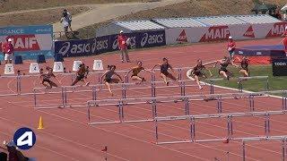 Angers 2019 : Finale 100 m haies Juniors F (Agathe Penet en 13''74)