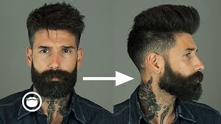 How to Style a Natural Pompadour with Skin Fade | Carlos Costa