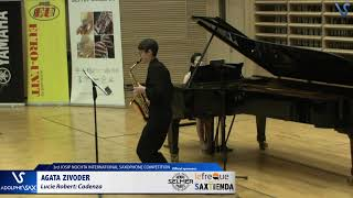 Agata Zivoder plays Cadenza by Lucie Robert