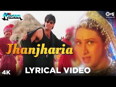 Jhanjharia Lyrical Video (Male) - Krishna - Suniel Shetty, Karisma Kapoor   Abhijeet Bhattacharya