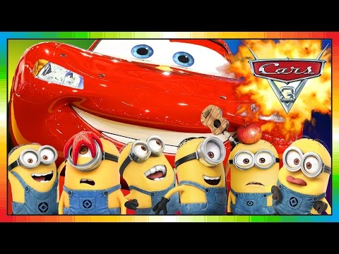 Cars 3 ★★ 2017 ★★ Mini Movie Animation 05 ★★ McQueen Overrides MINIONS ★★ ( Funny ) ★★