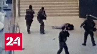 Возле Лувра мужчина с мачете напал на полицию
