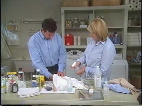 Home Stain Removal With Martha Stewart And Wayne Edelman of Meurice Garment Care