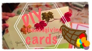 Diy thanksgiving cards/invitations
