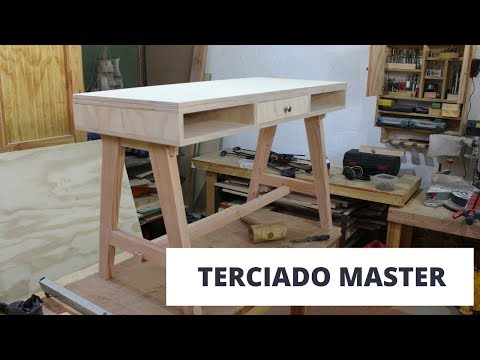 Cómo hacer un escritorio con el terciado master mueblería de Arauco Parte 2