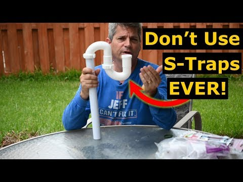 Why You Should Never Use Plumbing S-Traps On Your Sink Drain