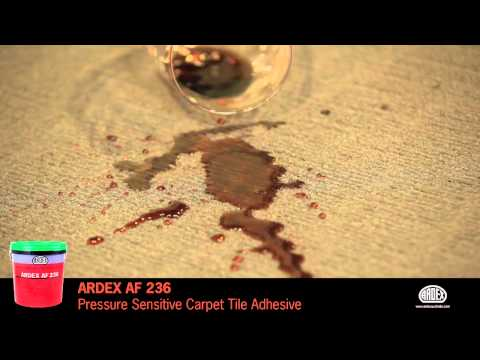 ARDEX AF 236 - Pressure Sensitive Carpet Tile Adhesive - Semi-permanent Carpet Tile Application