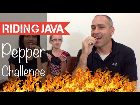 Indonesia Birds Eye Chilli Pepper Challenge | American Vs Indonesian
