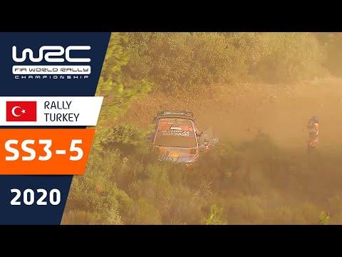 WRC ラリー・ターキー(トルコ)。SS3ーSS5の様子をダイジェストで楽しめるハイライト動画