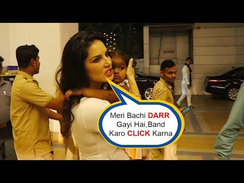 Sunny Leone ANGRY On Media For Clicking Pic Of Her Daughter