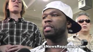 Rap Star 50 cent I Am got lots of money i am rich - esnews boxing