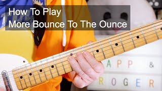 'More Bounce To The Ounce' Zapp & Roger Bass & Guitar Lesson