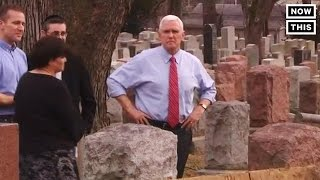 Mike Pence Visits Vandalized Jewish Cemetery