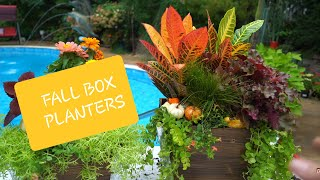 🌻Fall Box Planters! Quick & Easy Plants For Fall Color