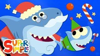 Santa Shark | Baby Shark Christmas Song | Super Simple Songs