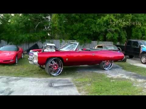 "Candy Red 72 Chevy Impala Donk On 30"" Asantis, Super Charged 572 BBC - 1080p HD"