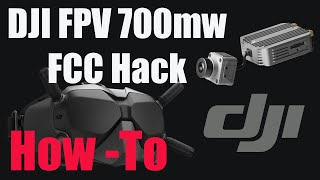 DJI Digital FPV System - FCC Hack 700mw Power & 8 Channels