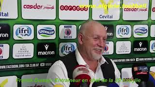 JSKabylie – CABBA : Les déclarations de Franck Dumas