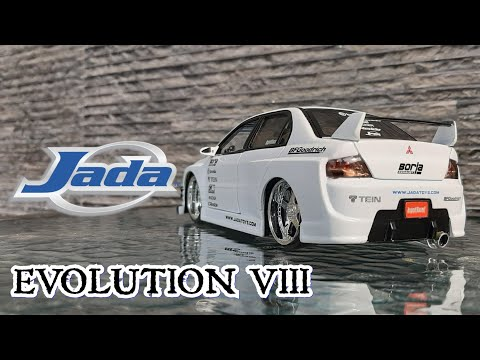 Unboxing & Review Mitsubishi Lancer Evolution 8 Jada Toys Import Racer White Scale 1/24