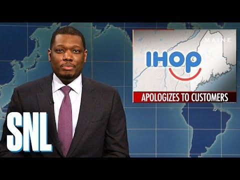 weekend update on ihops apology snl - John Malkovich Snl Christmas