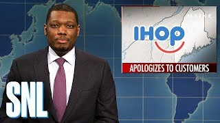 Weekend Update on IHOP's Apology - SNL