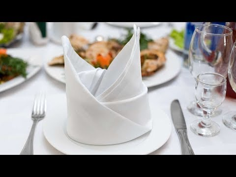 Bischofsmütze » Papierservietten & Stoffservietten falten