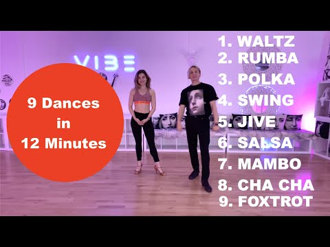 💥9 DANCES in 12 MINUTES💥Learn in this Ballroom Dance Course more then in your Entire Life! BASICS
