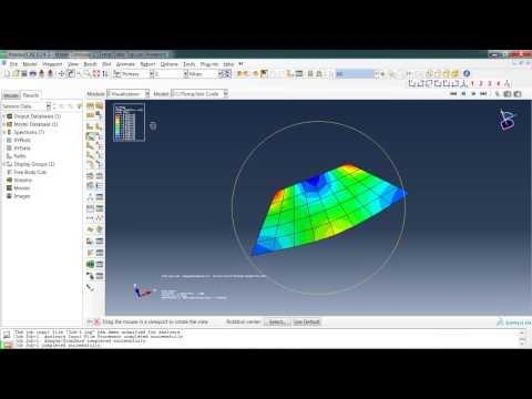 Abaqus Tutorial 1 (First Analysis) - YouTube