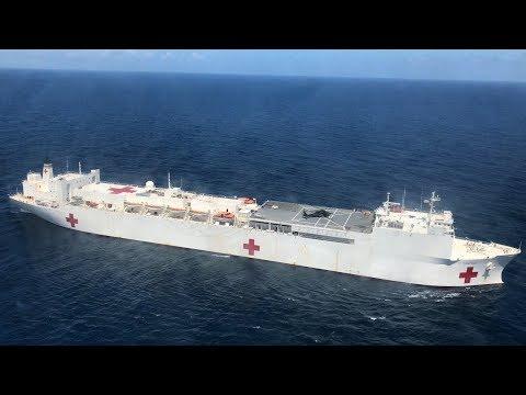 Floating hospital sits empty near Puerto Rico