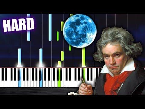 Beethoven - Moonlight Sonata - HARD Piano Tutorial by PlutaX