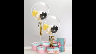 How to DIY a 24inch double bubble balloon ? how to inflate balloon onto balloon ?