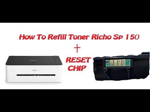 refill toner richo sp150 - ricoh sp150su orjinal kartus toner doldurma (toner cartridge refill)