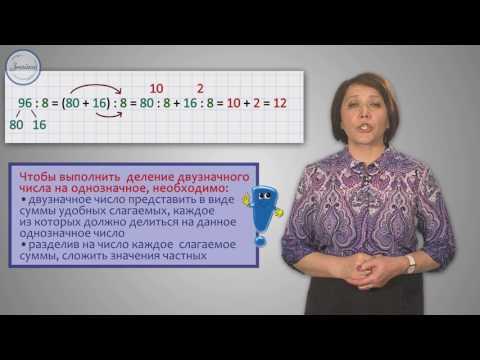 Устное деление двузначного числа на однозначное