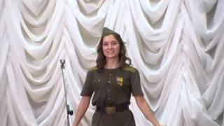 Марина Пой, солдат на смотре патриотической песни