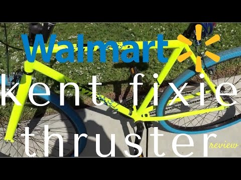 Walmart Kent Thruster 700c cheap $100 fixie bicycle review