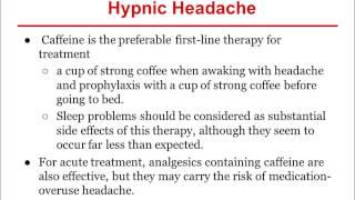 Where is a coffee headache