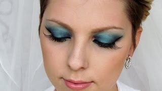 Hunger Games 2 Katniss Everdeen Inspired Blue Makeup Tutorial