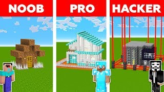Minecraft NOOB vs PRO vs HACKER : ZOMBIE BASE DEFENSE CHALLENGE in minecraft / Animation