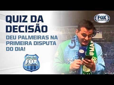 QUIZ DA DECISÃO: Deu Palmeiras na primeira disputa do dia!