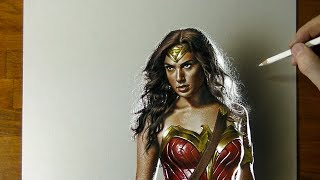 Drawing Wonder Woman Justice League