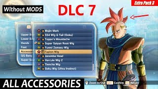 Dragon Ball Xenoverse 2 All Accessories Including Dlc 7 Updated Ver 1.10 | Both Male-Female Saiyans