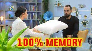 Cfare ndjen kur shtrihesh ne jastek 100% Memory Foam?