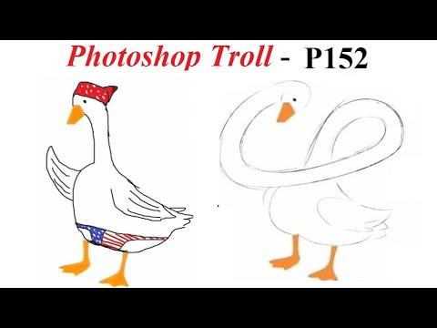 Ảnh Chế  💓 Photoshop Troll (P 152), James Fridman, Draw a Duck, Vẽ một con vịt