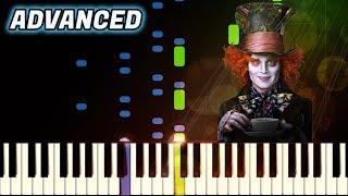 Alice's Theme by Danny Elfman   Piano Tutorial   ADVANCED