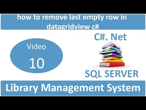 how to remove last empty row in datagridview csharp