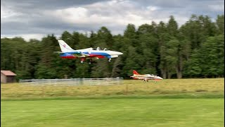 FPV formation flying with landing, mixed ground/fpv footage