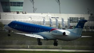 preview picture of video 'bmi regional Embraer ERJ-145EP G-RJXB --- Ankunft in München (Full HD)'