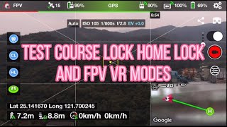 Test Course Lock, Home Lock and FPV VR modes #mavicair #litchi